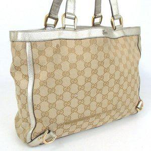GUCCI Hand Bag GG-CANVAS Women Shoulder Bag Canvas